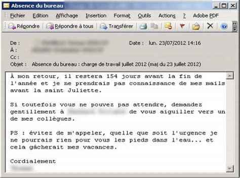 exemple message d absence du bureau vos mails d 39 absence révèlent quel employé vous êtes