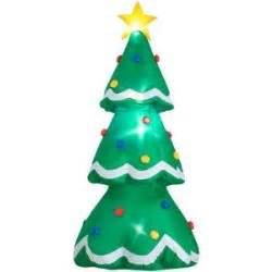 amazon com holiday accents 7ft inflatable christmas tree airblown home and garden products