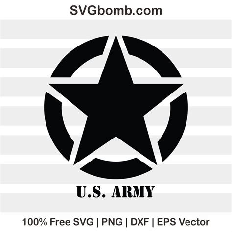 Create custom content and show it on a vector, google or image maps. Free Logo SVG: US Army Vector Image   SVGbomb.com