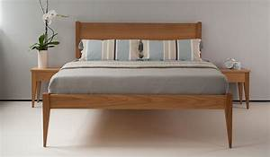 Retro Bed Frames Mid Century Look Bedroom Natural Bed
