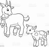 Animaux Goatling Chevre sketch template