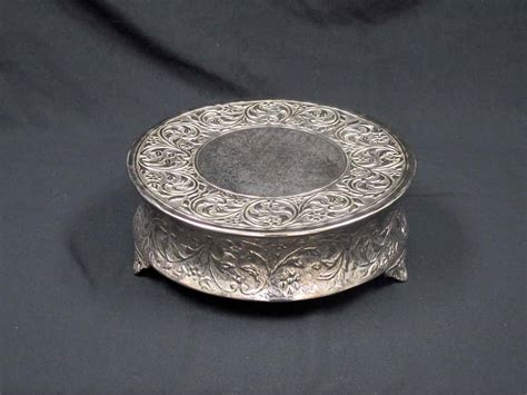 14 inch cake plate 14 inch silver cake stand elite events rental 3806