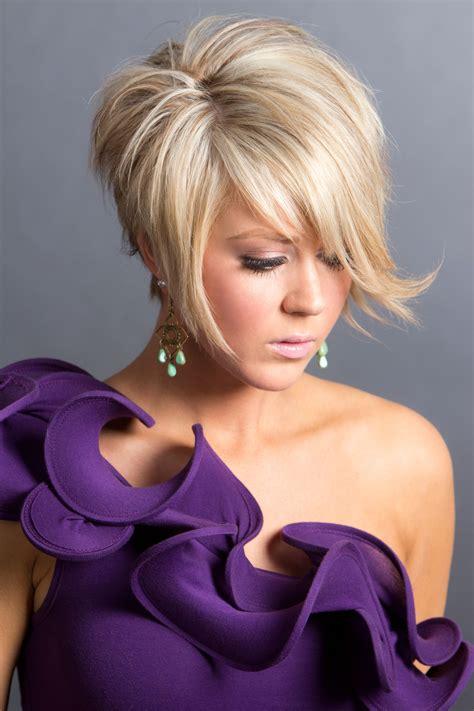 short  sassy gorgeous blonde angled cut siggers