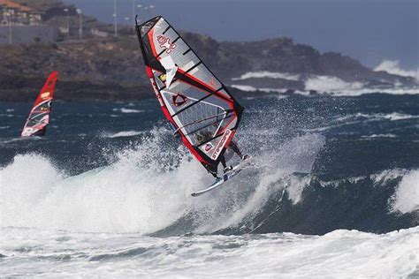 Wind Surfing Pwa World Tour Wave Event Tenerife Canary