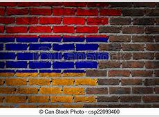 Stock Illustration of Dark brick wall Armenia Dark