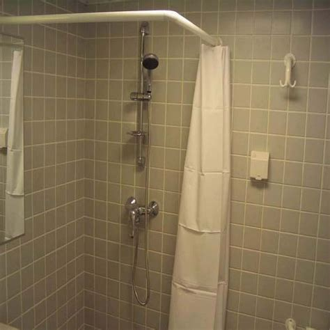 free installation l shaped shower curtain rod curved rod