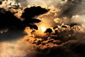 Cloudy Evening Sky with Sun