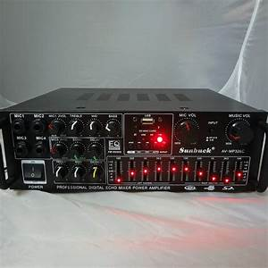 220v 240v 200w 200w Sunbuck Av Mp326c Professional Digital Echo Mixer Amplifier Home Karaoke