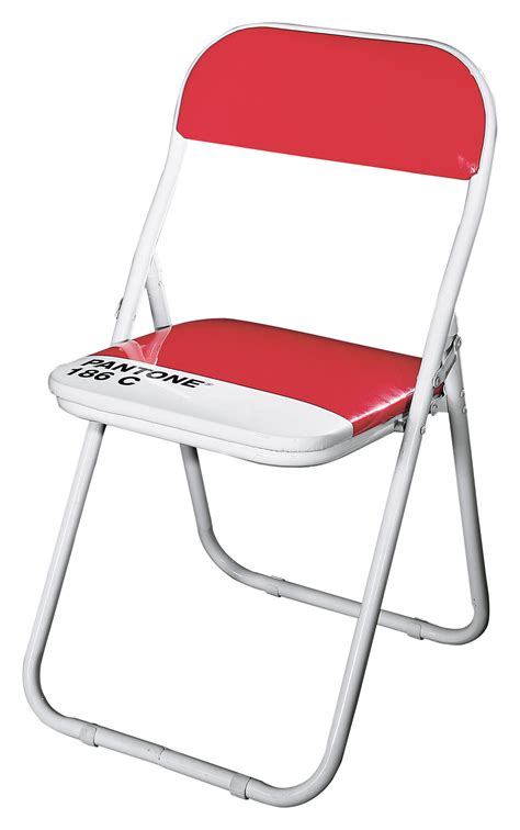 pantone foldable chair plastic metal structure 186c