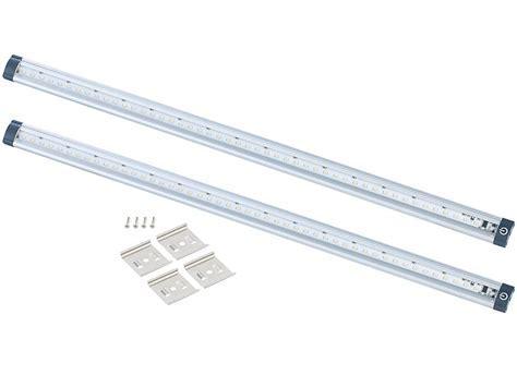 Luminea LED Unterbauleuchten 2er Set, 50 cm, Touch Sensor