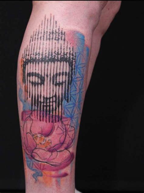 body tattoos halftone thai buddha tattoo
