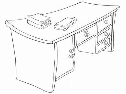 Coloring Table Clipart Drawing Daily Necessities Colouring