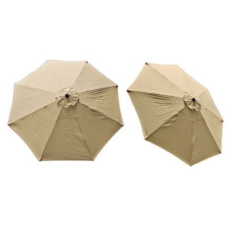 replacement cover canopy 9 ft 8 ribs umbrella tan top