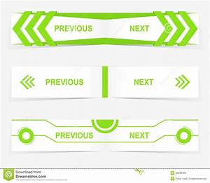Vector Previous And Next Navigation Buttons For Custom Web