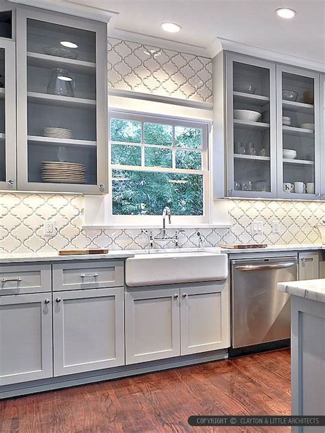 Kitchen Backsplash Tile Ideas Photos by 60 Fancy Farmhouse Kitchen Backsplash Decor Ideas 8