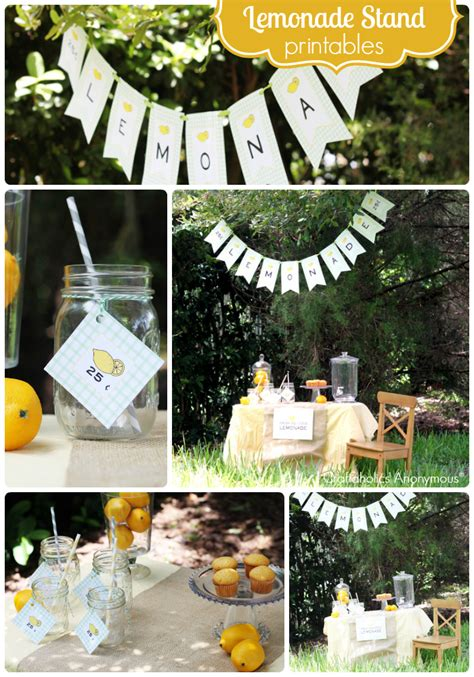 craftaholics anonymous lemonade stand printables