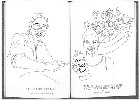 heres  literally  chance  rapper coloring book