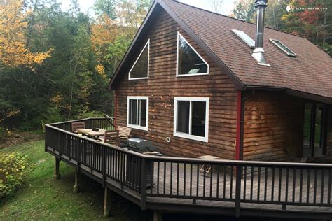 pet friendly cabins pet friendly contemporary cabin in new york