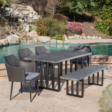 Patio Deals by Great Deal Furniture 304090 Cosmo Outdoor 6 Wicker