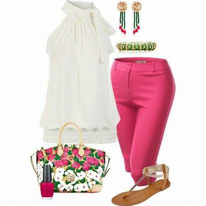 Outfits Summer Casual Plus Capri Pants Outfit