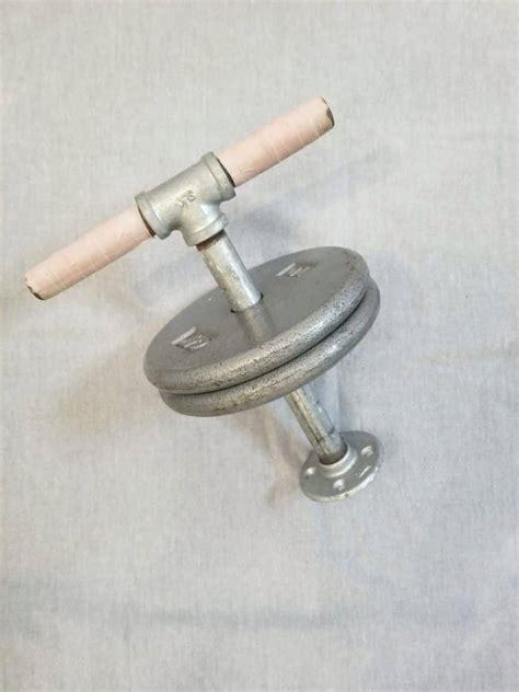 kettlebell homemade adjustable diy kettlebells pipe onto plates weight bar main lock floor
