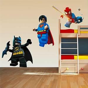 details about lego superhero set superman spiderman batman With superhero wall decals