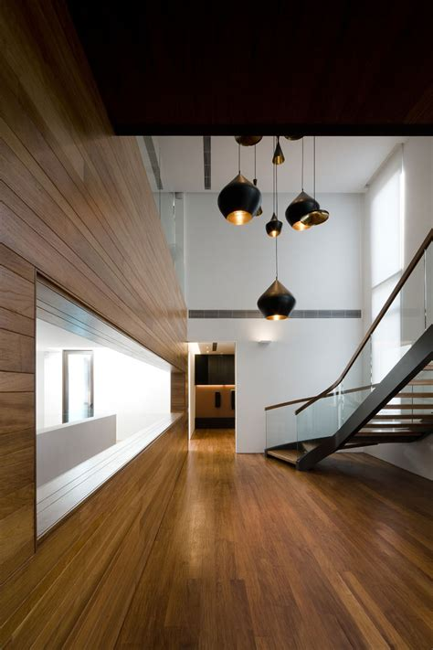 metallic exterior meets modern interiors at singapore 39 s green house