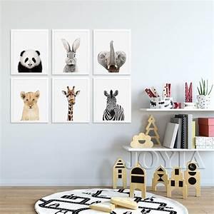 Baby, Animals, Canvas, Art, Prints, Posters, Cute, Panda, Rabbit, Pictures, Kids, Room, Child, Bedroom, Nordic
