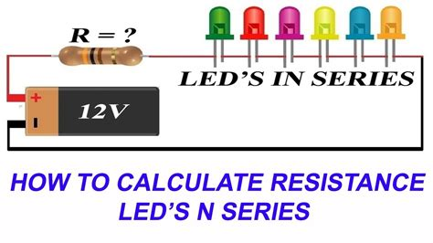 How Connect Leds Series Calculate Current