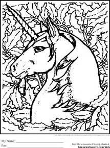 Advanced Unicorn Coloring Pages