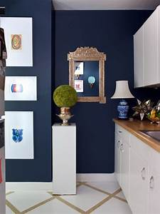 white and navy blue kitchen eclectic kitchen sara With what kind of paint to use on kitchen cabinets for gold mirror wall art