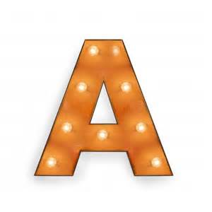 letter a with light bulb reallynicethings - Floor And Decor Hours