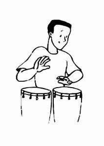 Dibujo para colorear Percusionista - Img 8720