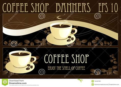 coffee banners royalty  stock images image