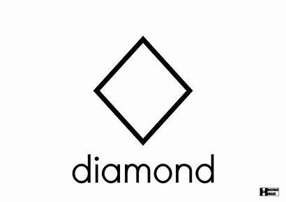 Diamond Shape Coloring Pages Template Gartner Sketch
