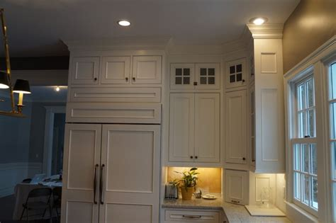 double row  upper cabinets traditional kitchen boston