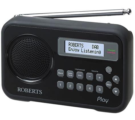 Buy ROBERTS Play Portable DAB+ Radio - Black | Free ...