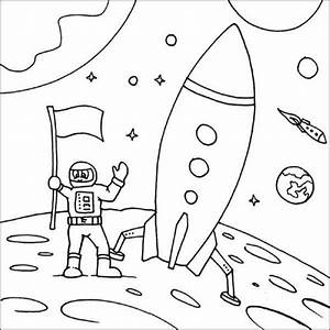 Space Shuttle Free Coloring Pages