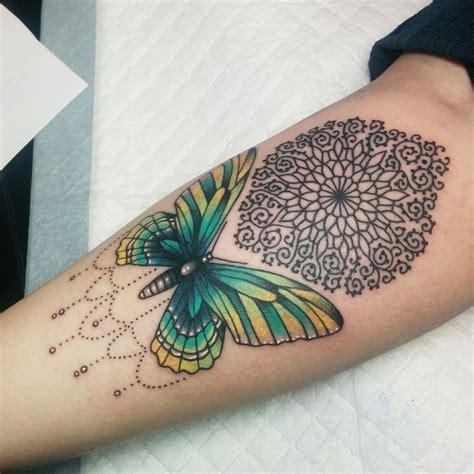 animals tattoo  butterfly  mandala