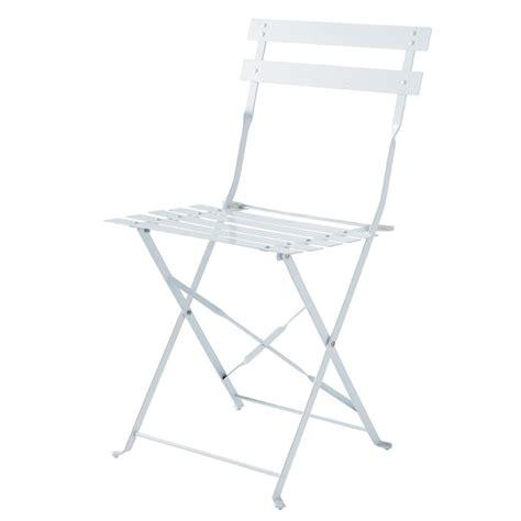 chaises pliantes de jardin 2 chaises pliantes de jardin en métal blanches guinguette