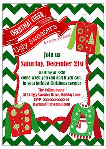 Party invitations ugly sweater christmas party for Ugly sweater christmas party invitations template
