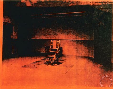 andy warhol little electric chair c 1965 painting little
