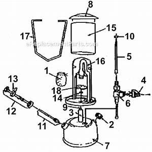 Coleman 222a7101 Parts List And Diagram