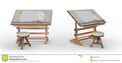 nouvelle table de dessin en bois avec des outils et des