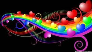 Rainbow Love 4K HD Desktop Wallpaper for 4K Ultra HD TV