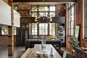 cuisine industrielle 43 inspirations pour un style With idee de deco jardin exterieur 18 idees decoration loft amenagement loft inspirations
