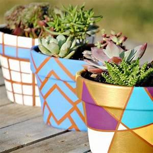 Blumentopf bemalen balkon und garten kreativ gestalten 30 for Balkon ideen mit kindern
