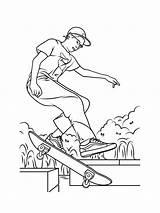 Skateboard Coloring Printable Mycoloring sketch template