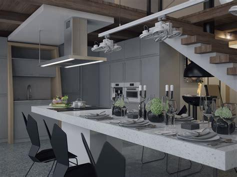 granite breakfast bar interior design ideas