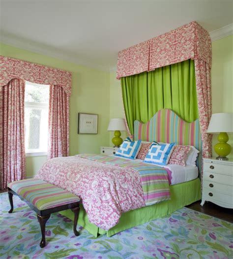 pink  green girls bedding contemporary girls room